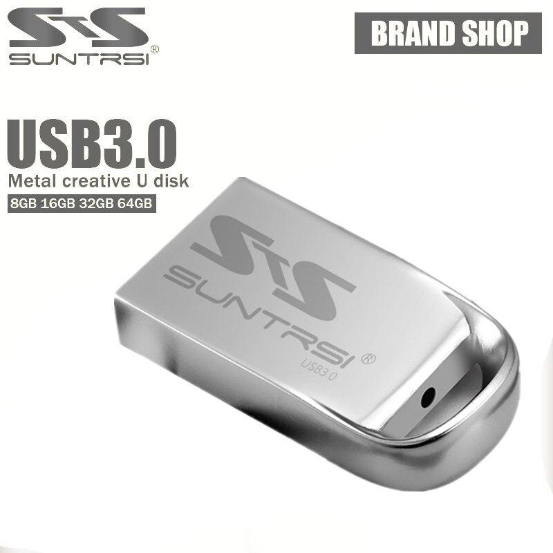 Suntrsi USB 3.0 64gb USB Flash Drive High Speed USB Metal Pendrive Waterproof 32gb 16gb 8gb Mini Pen Drive Free Shipping