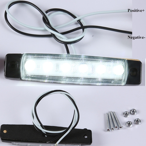 Image 2 - 10 PCS AOHEWEI 24 V  LED white front side marker light indicator position lamp with reflector for trailer truck lorry RV