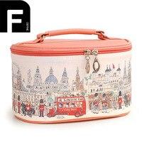Women Travel Portable PU Cosmetic Bag Large Capacity Professional Organizer Beauty Makeup Box Ladies Fashionable Beauty