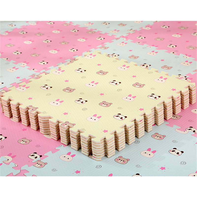 HTB1mEuBaBGw3KVjSZFwq6zQ2FXaq EVA Foam Children's Mat Split Joint Baby Play Mat Puzzle Cartoon Panda Patterns Soft Floor Carpet For Baby Crawling Exercise