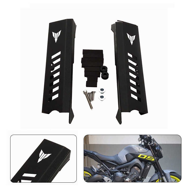 Motorcycle CNC Radiator Side Grille Guard Cover Protector For Yamaha MT09 //FZ09 2014-2016 Black