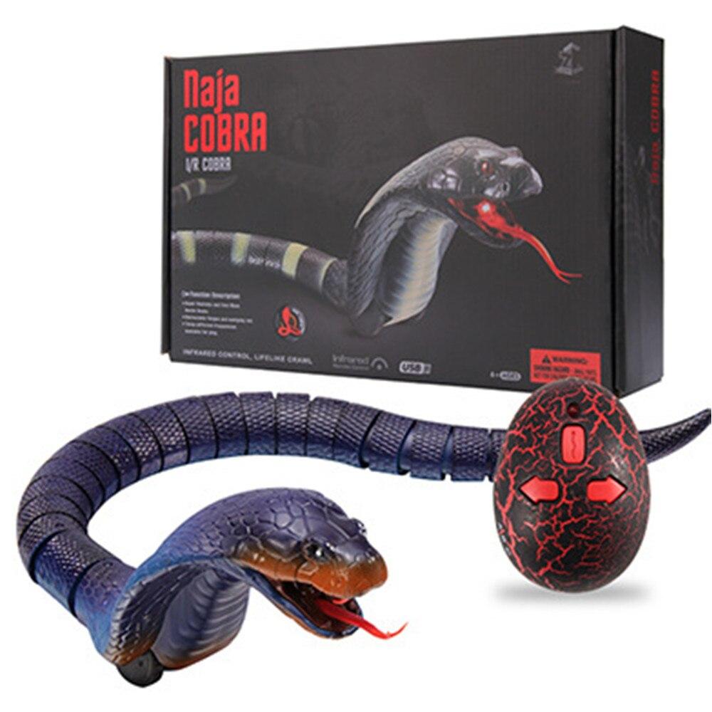 Télécommande Cobra serpent horreur Gadget anti-stress blagues adultes enfants batterie opération Halloween jouet jouets de plein air bleu jaune