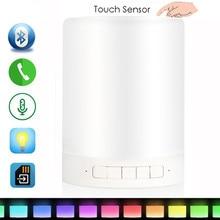 Sans fil Led Pamp Bluetooth Haut-Parleur Mains Libres Appel Rappel Coloré LED Lumière Lampe Avec TF Carte Lecteur de Musique Smart haut-parleurs