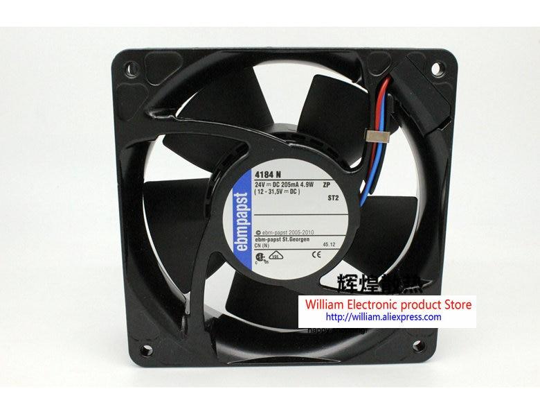 New Original EBM PAPST 4184 N 24V 4.9W 120*120*38MM 12cm Inverter cooling fan new origianl ebm papst rg90 18 12n 135 38mm 12v 554ma blower cooling fan