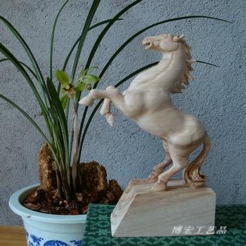 Horse wood carving handicrafts, home ornament, desk decoration(A191)