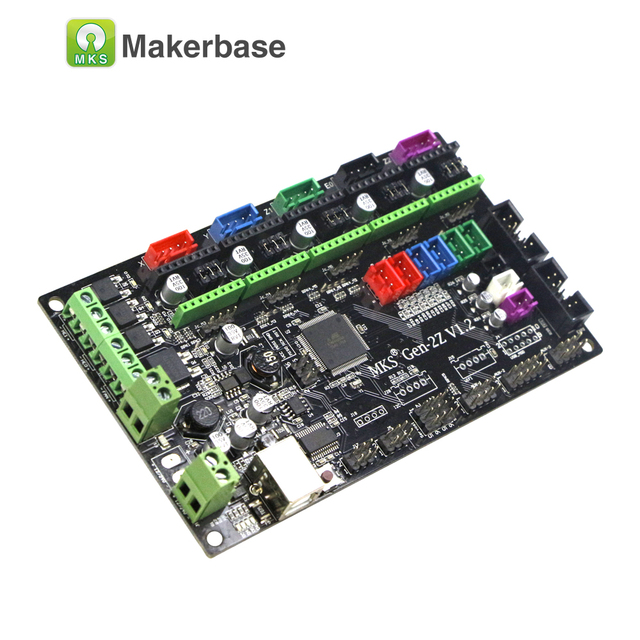 US $25 5 |3D printer controller main board MKS Gen2Z with dual z axis  support 4988/8825/TMC2208/TMC2100 drivers-in 3D Printer Parts & Accessories  from