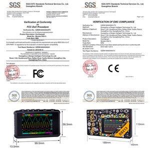 Image 5 - 4 kanałowy 100 MS/s MINI Nano DSO213 DS213 profesjonalny przenośny oscyloskop cyfrowy cyfrowy DSO 213 DS 213 z sondą X1 i X10