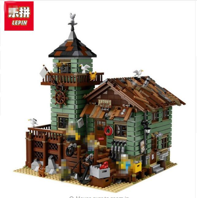 Lepin 02022 City 50th Anniversary Town Building Blocks Bricks educational Toys for children Gifts 10184 waz compatible legoe city lepin 2017 02022 1080pcs city 50th anniversary town figure building blocks bricks toys for children