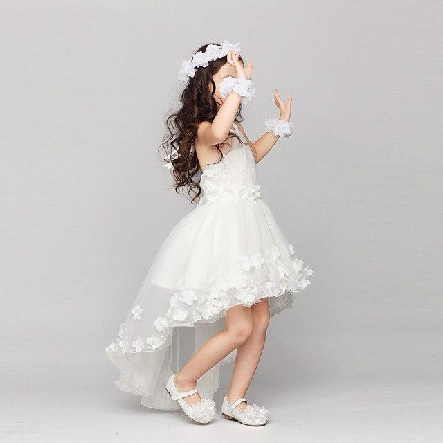 3d60bc5a5c22a De Demoiselle D honneur de mariage Fille Robes Sans Manches Princesse Robe  En Dentelle Pour