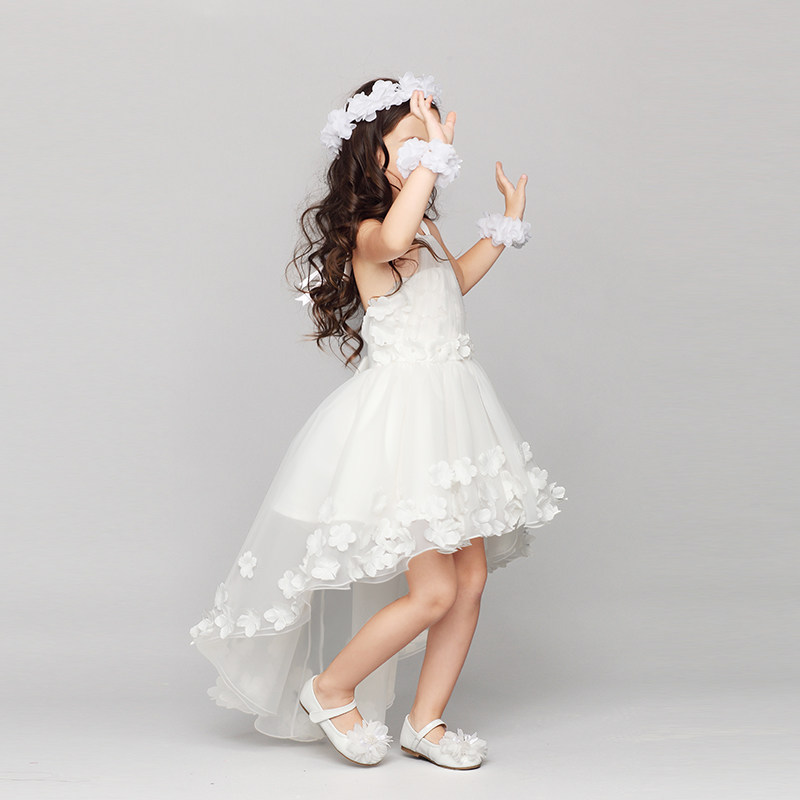 Wedding Bridesmaid Girl Dresses Sleeveless Princess Lace Dress For 2 3 4 5 6 7 8 9 10 11 12 Years Old Girls Frocks Clothes