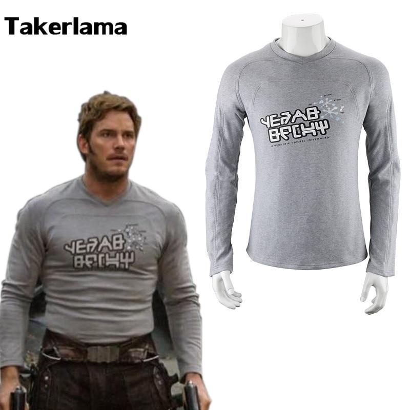Takerlama Guardians Of The Galaxy 2 Starlord Uniform Hemd Peter Jason Quill Cosplay Kostüm für Halloween-Party Anzug