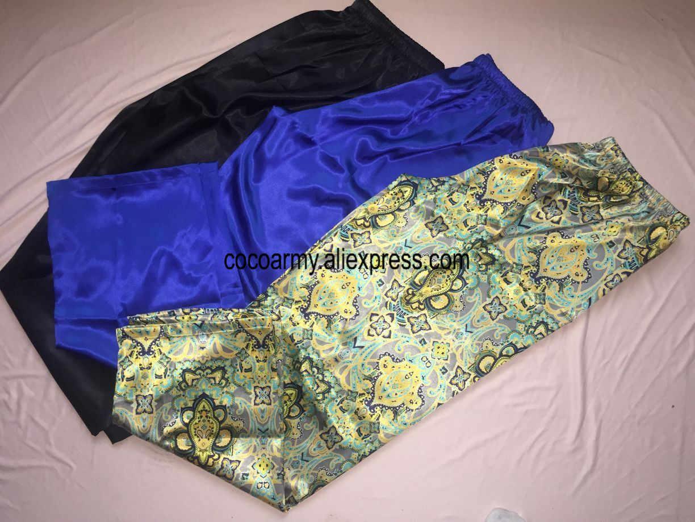 a54ee71c85c57 ... 17 цвет плюс размеры 3XL Ночная Пижама атласные шелковые брюки пижамы  Pijama эластичный пояс джентльмен дома ...