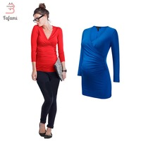Maternity Clothes Plus size T shirt Tees Lycra pregnancy nursing clothes for pregnant women solid tshirt clothing winter wear