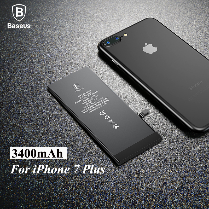 Original Baseus High Capacity 3400mAh Phone Battery For IPhone 7 Plus Internal Replacement Phone Batteria For IPhone 7G Plus