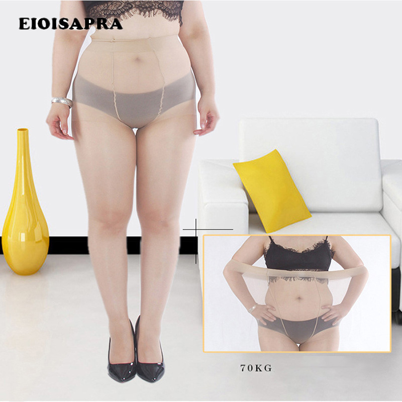 [EIOISAPRA]Big Size Women Tights Sexy Ultra-thin Superelasticity Fat Big Size Stockings Pantyhose Women Anti-hook Wire 100kg