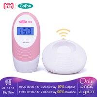 Cofoe Pocket Fetal Doppler Detector Baby Heart Rate Montior With Ultrasound Gel For Pregnancy Women