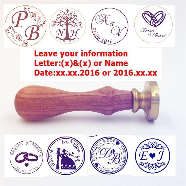 Dostosuj pieczęć woskowa znaczek logo spersonalizowane obraz niestandardowy lak pieczęć pieczęć zaproszenie na ślub Retro antyczne pieczęć niestandardowe
