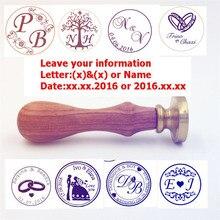 Anpassen Wachs-siegel-stempel logo Personalisierte bild benutzerdefinierte siegellack sealing stamp hochzeitseinladung Retro antike stamp benutzerdefinierte