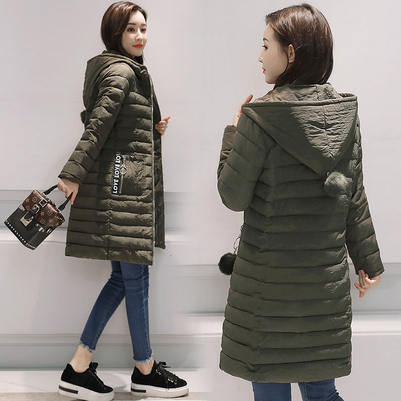 e9740d372b1 2018 Winter Jacket Women s New Cotton Long Slim Down Cotton Thickened  Korean Warm Hooded Jacket Winter Coat Women Parka A1128-in Parkas from  Women s ...