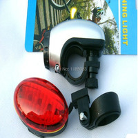 Free shipping 2015 before and after 5LED highlighted new explosion paragraph bicycle lamp set