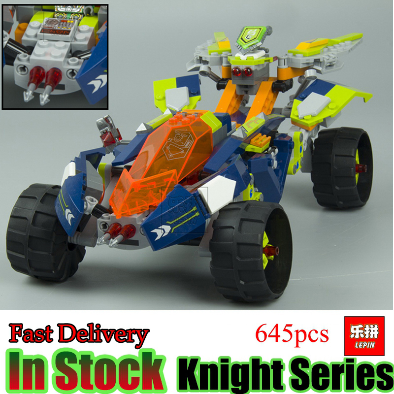 LEPIN 14035 Nexoe 645Pcs Nexus Knights Combination Set Building Blocks Bricks Toys For  Car in stock lepin 14036 785pcs nexoe the stone colossus of ultimate nexus destruction knights building blocks bricks toys for kids