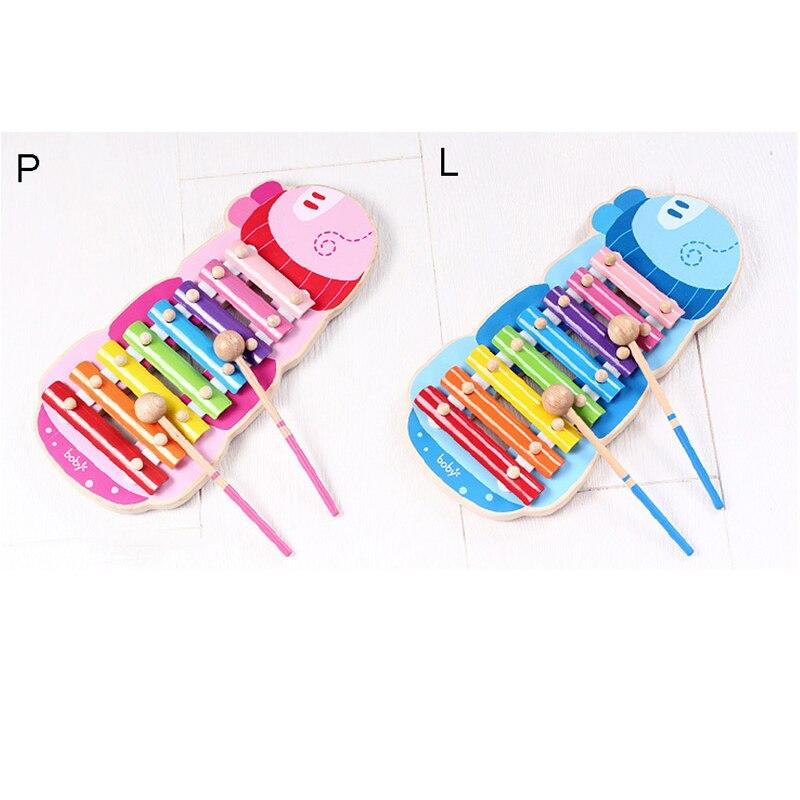 8 clé Enfants Bande Dessinée Xylophone pour Les Tout-petits Bébé Fabricant de Bruit instrument de musique Jouets avec Un Maillet 19