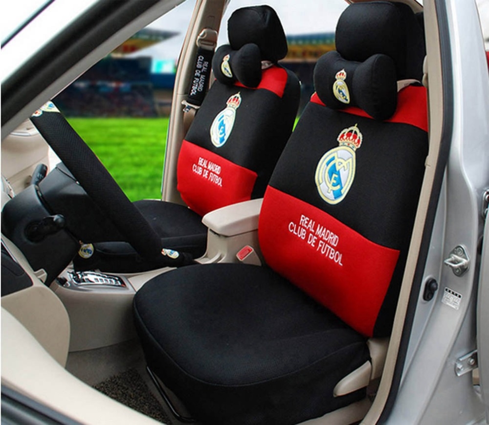 Peachy 1 Sets Football Fans Car Seat Covers Car Steering Wheel Beatyapartments Chair Design Images Beatyapartmentscom
