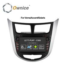 Ownice C500 Octa 8 Rdzeń Android 6.0 SAMOCHODOWY odtwarzacz DVD dla Hyundai Solaris Verna accent i25 z GPS BT radio wifi 4G LTE Sieci