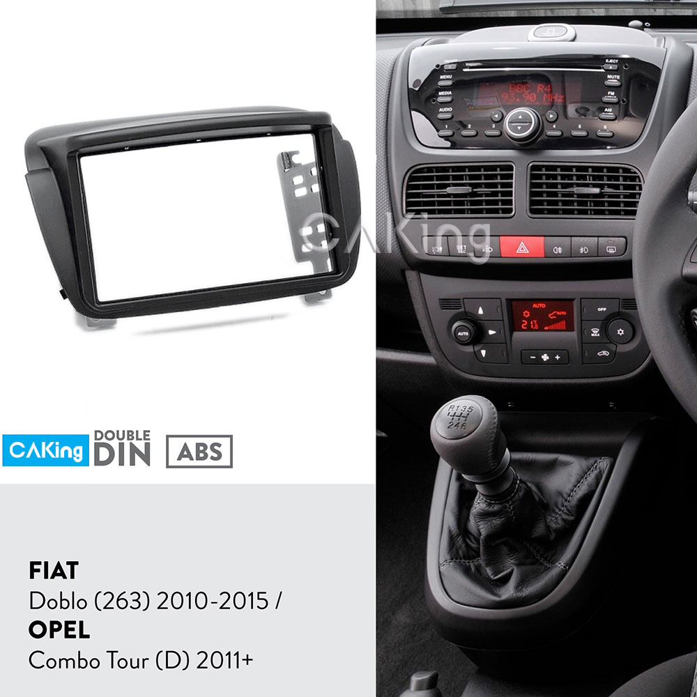 Car Fascia Radio Panel for FIAT Doblo (263) 2010 2015 / OPEL Combo Tour (D) 2011+ Frame Dash Kit Facia Plate Adapter Cover Bezel-in Fascias from Automobiles & Motorcycles    1