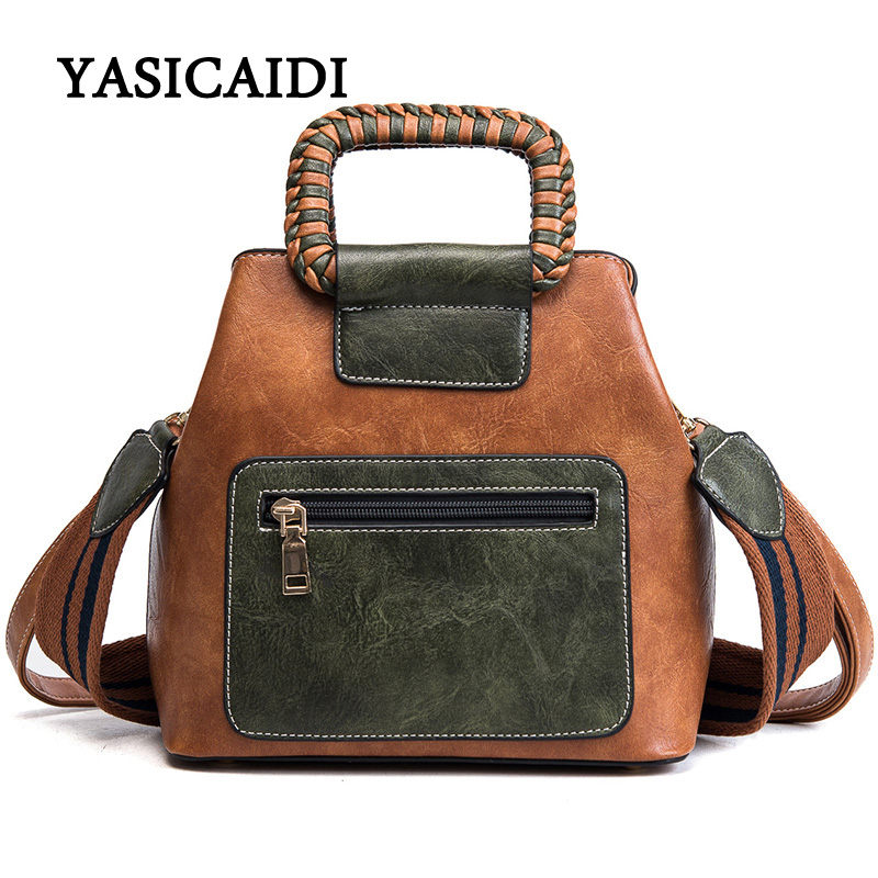 Fashion Top-Handle Bags Women Handbags High Quality Oil Wax Leather Bags Women Tote Famous Brand Designer Women Shoulder Bags 2017 hot sale famous brand women s tote bags high quality leather handbags female luxury designer top handle bag women handbags