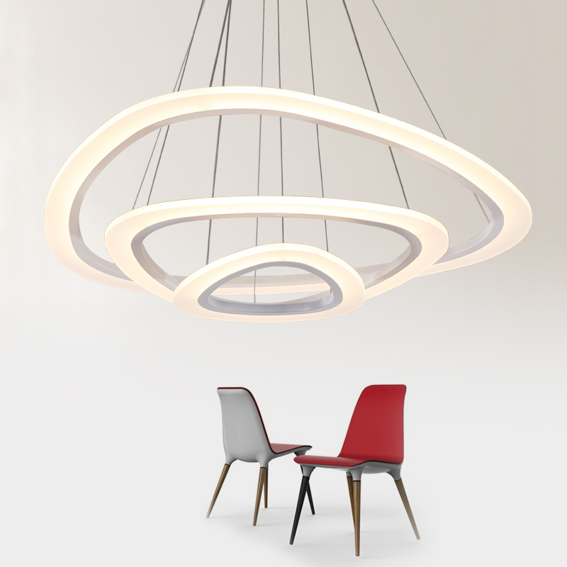New Modern pendant lights for living room dining room 4/3/2/1 Circle Rings acrylic LED Lighting ceiling Lamp fixtures AC 85-265V led modern pendant lights lamp for living room dining room 4 3 2 1 circle ring acrylic led lighting kitchen hanging lamp fixture