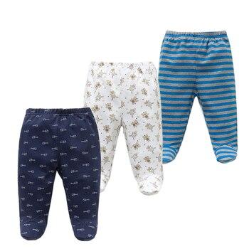 Детские штаны, 3 шт./лот, 100% хлопок, брюки для новорожденных мальчиков и девочек на весну-осень, детская одежда, Одежда для новорожденных с гер...