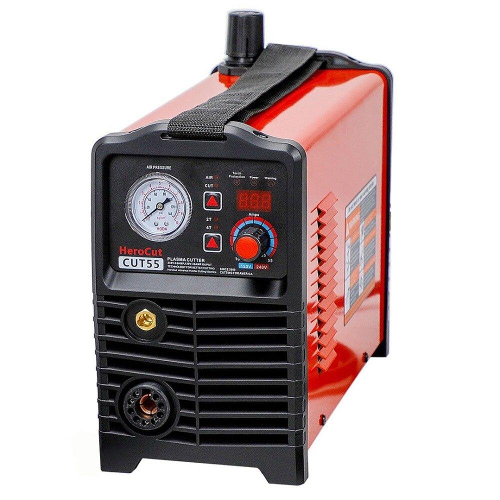 Taglio al plasma IGBT Digitale di Controllo CNC Non-HF Pilot Arc Cut55 A Doppia Tensione 120 V/240 V, macchina di taglio di Lavoro con tabella di CNC