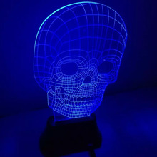THGS USB 3D LED Table Lamp Night Light's room Night Light Christmas Gift NEW Skull