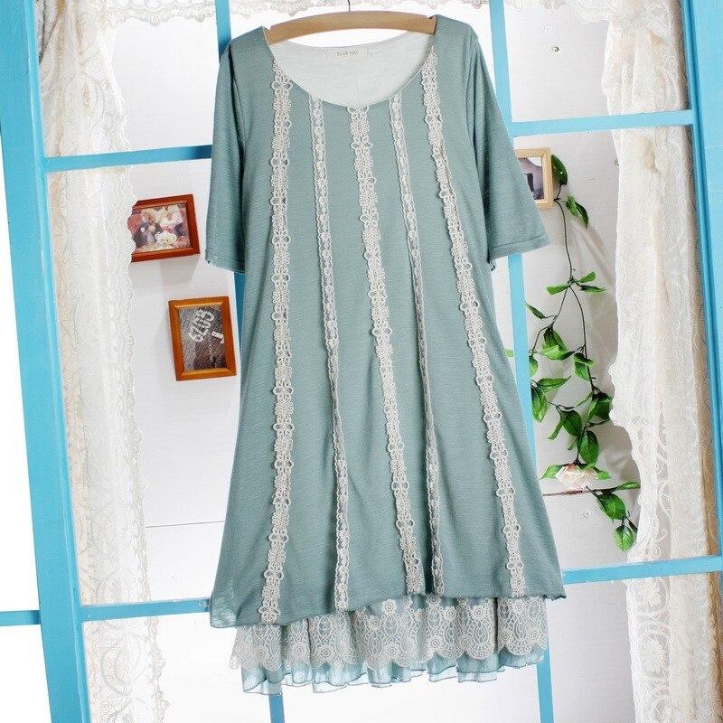 Богемное трикотажное платье халат сладкий Мори Лолита девушка Tunique Curto Свободные повседневные Gispy платье хиппи бохо женская одежда Saida Ropas