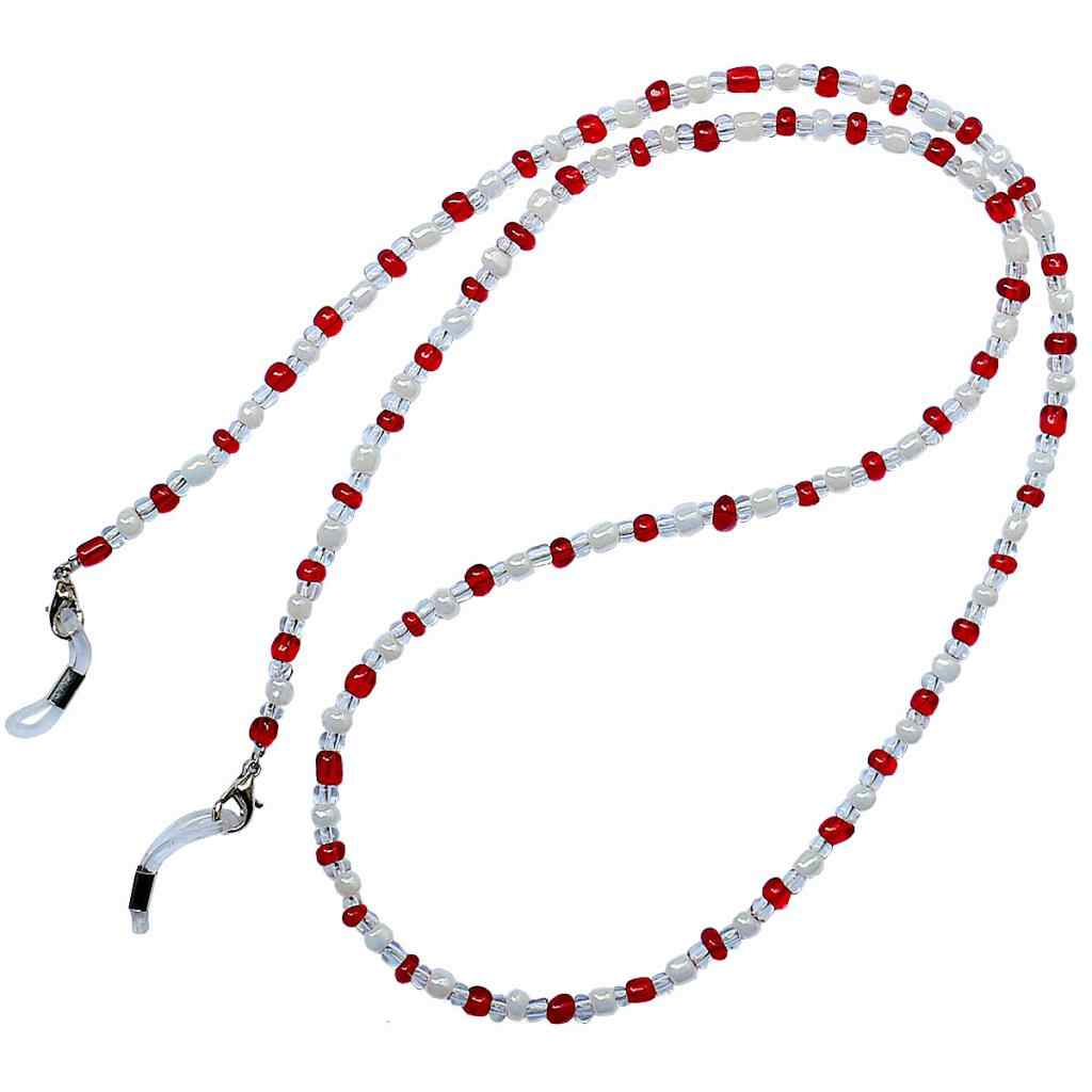 3 Pieces Colorful Glass Beads Chain Strand Eyeglass Necklace Sunglasses Spectacles Cord Holder Outdoor Activities Accessory