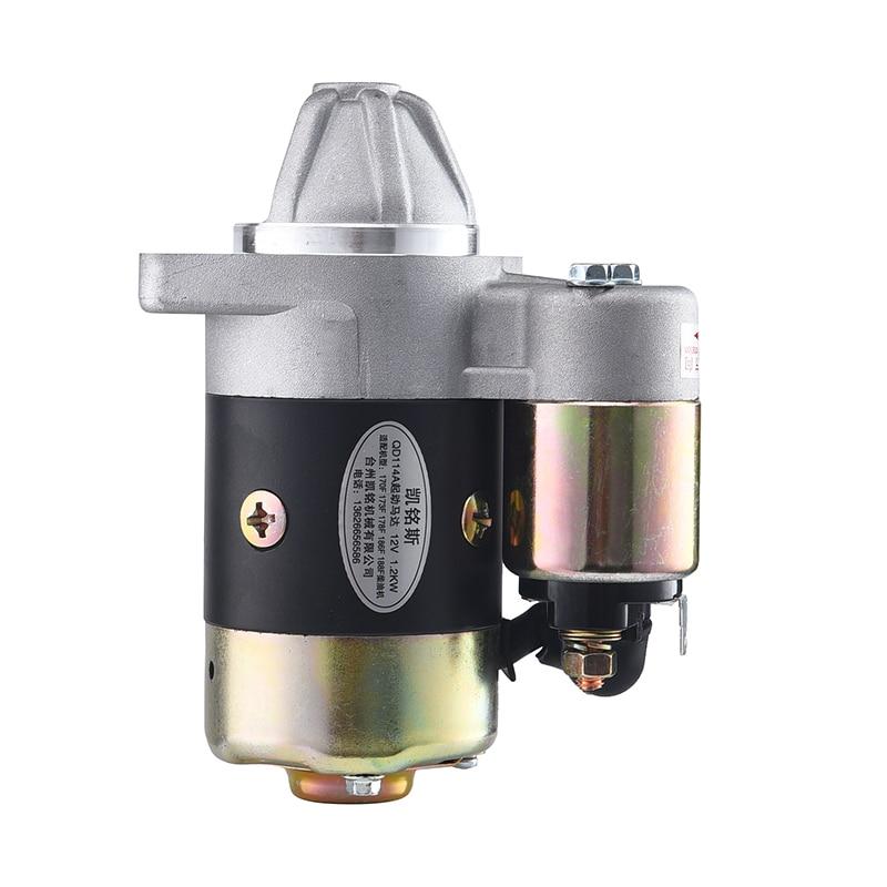 Diesel moteur de démarrer le moteur Pompe électrique démarreur générateur ensemble moteur démarreur 12 V 1.2kw QD114A