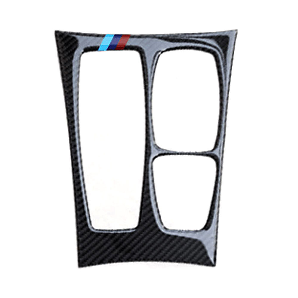 1pcs Car styling Carbon Fiber Car Interior deocration sticker Gear Panel Cover Trim For BMW X6 E71 2008-2013 automobiles trims carbon fiber car rear bumper extension lip spoiler diffuser for bmw x6 e71 e72 2008 2014 xdrive 35i 50i black frp