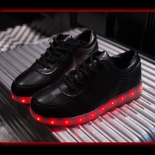 Boys Led Luminous Shoes Male flats Spring Usb Rechargeable Fluorescent Light Led Shoes Women Single Shoes Hot Selling #B1848