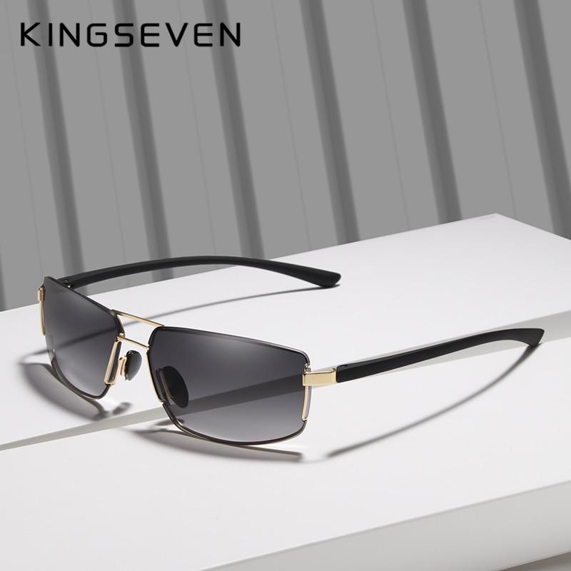 KINGSEVEN Brand Design Sunglasses Men Driving Square Frame Sun Glasses Male Classic Unisex Goggles Eyewear Gafas 3