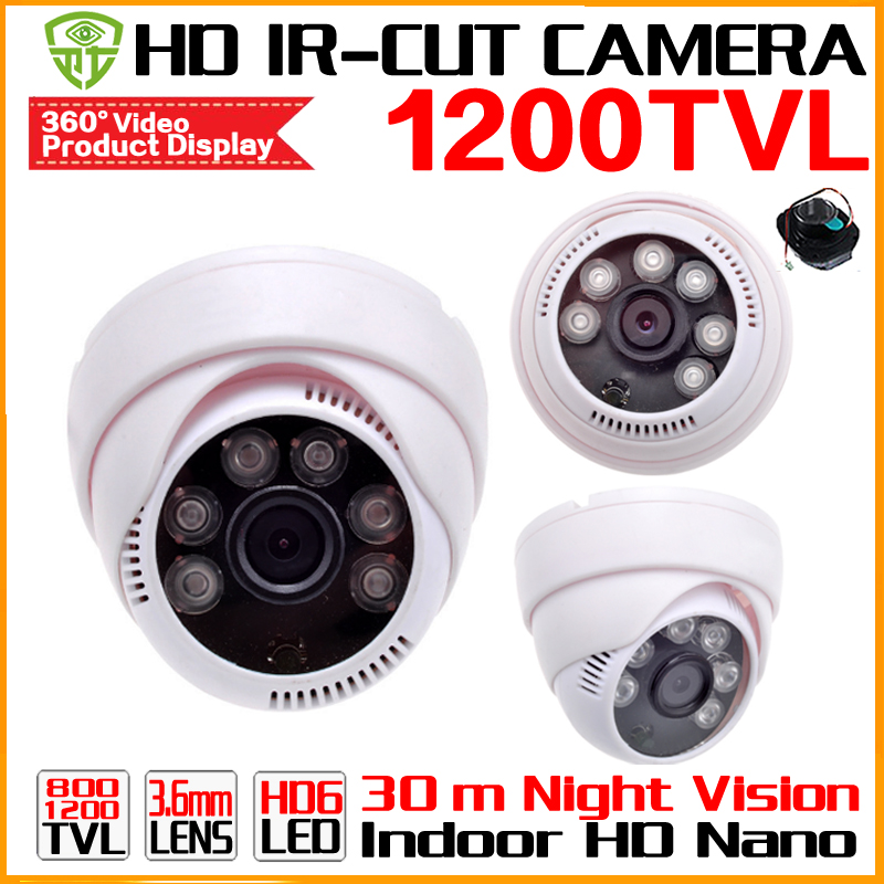 2017Nano Hot 1200TVL Color CMOS Night Vision Day Night Indoor HD CCTV Camera AHDL Infrared 30m security Surveillance Dome Video metal 1 3cmos 1200tvl ir cut 48led color hd cctv dome camera ahdl security indoor outdoor surveillance night vision home video