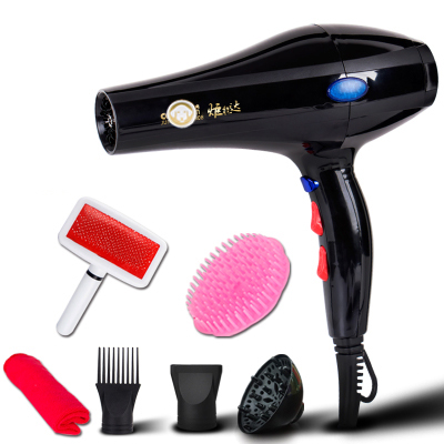 Pet Hair Dryer Dog Hair Dryer High Power Home Ultra-quiet Blowing Shower Teddy Special Water Blowing Machine dryer pet dog professional hair dryer ultra quiet high power stepless regulation of the speed drying machine 2400 w