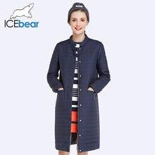 ICEbear 2017 Новая Осень и Весна Длинный Жакет Женщины Пальто Проложенный Хлопка Куртки И Пиджаки Теплая куртка женская Одежда 17G203D(China (Mainland))
