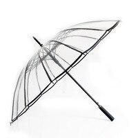 2017 Paraguas Transparent Umbrella Rain Women Transparente EVA Clear Lace Umbrella Parasol Parapluie Sombrinhas E Guarda