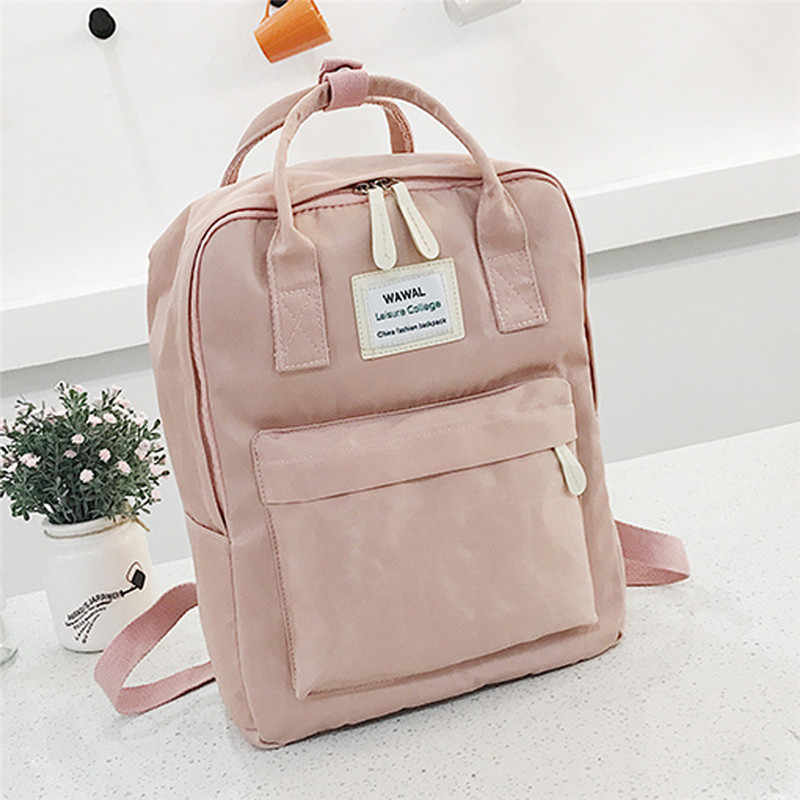 Fashion Women Canvas Backpacks canvas portable shoulder bag Waterproof School Bags for Teenagers Girls Patchwork Backpack