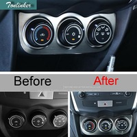 1 PCS Car DIY NEW Stainless Steel Style Air Conditioning Knobs Panels Cover Case For 2013