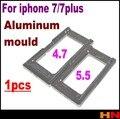 1 pcs tela de vidro mould molde para iphone 7 7 plus posicionamento dispositivo elétrico de tela de alumínio ferramentas de reparação de peças