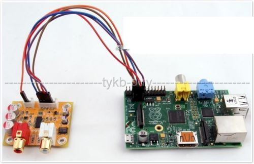 Audiophonics DAC Sabre ES9023 I2S Vers Analogique 24bit/192KHZ For Raspberry PI Board