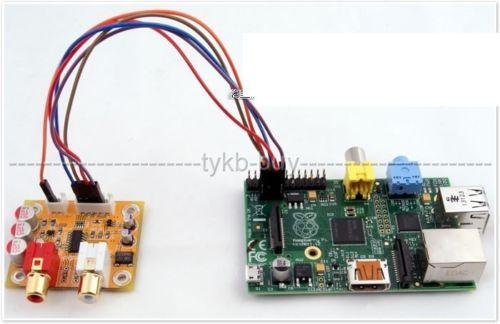 Audiophonique DAC Sabre ES9023 I2S vers Analogique 24bit/192 KHZ pour carte Raspberry PI