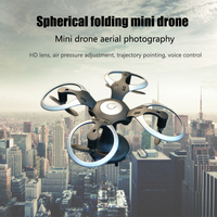 Spherical Folding Mini Drone Aerial Photography Aircraft Toy Remote Control Aircraft Helicopter Four axis Aircraft Model
